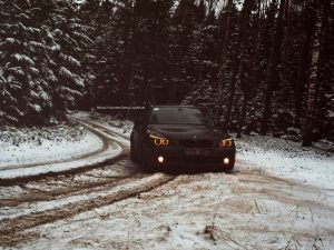 BMW E60 M5 in Snow