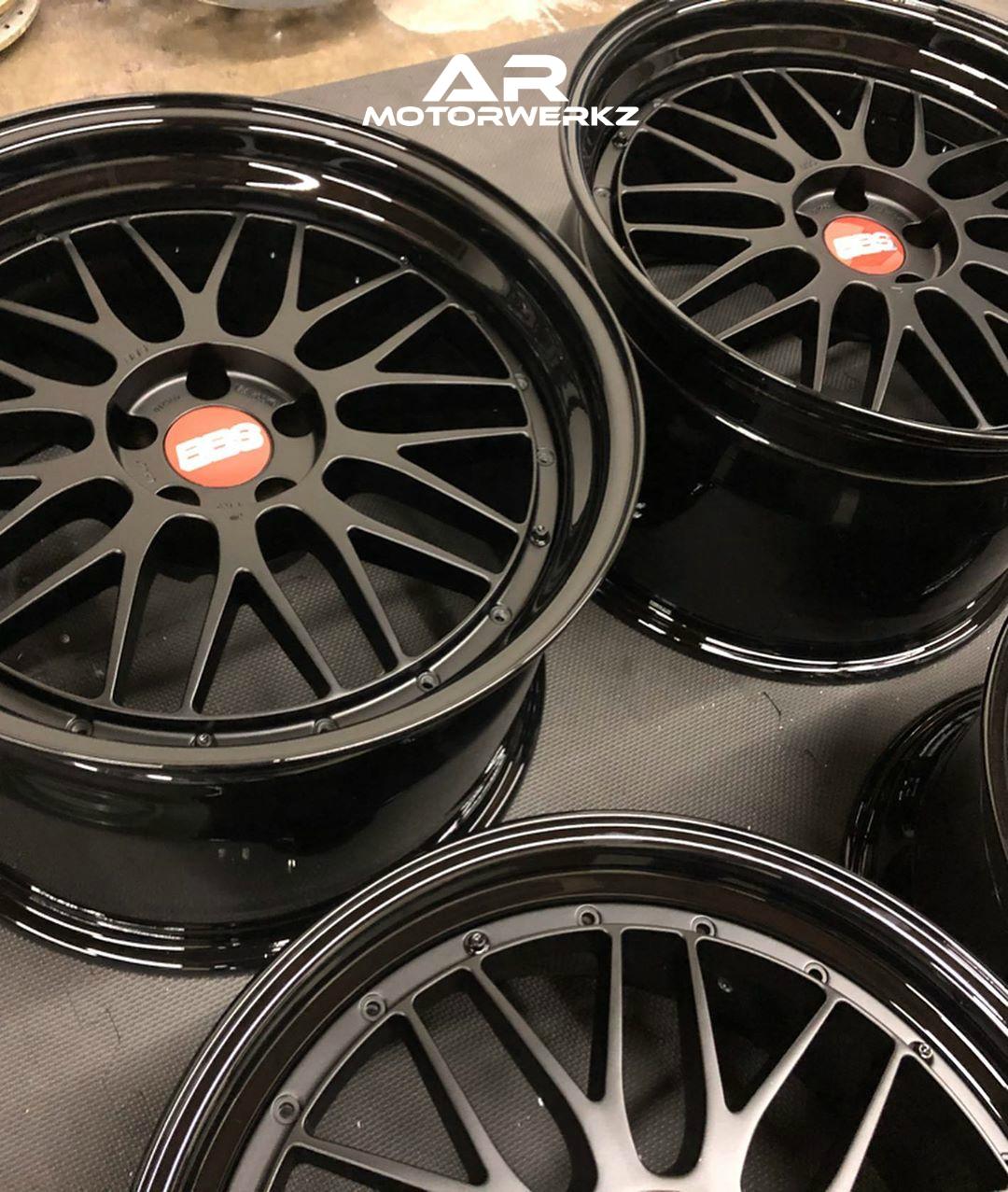 Bbs Lm Custom Satin Black Ar Motorwerkz
