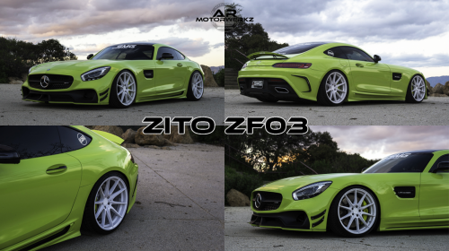 Mercedes Benz AMG GTS GREEN WALD ZITO ZF03 WHITE