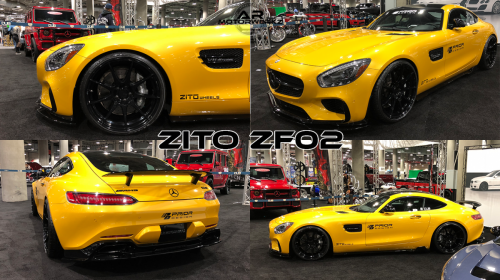 Mercedes Benz AMG GTS SOLAR BEAM YELLOW ZITO ZF02 GLOSS BLACK
