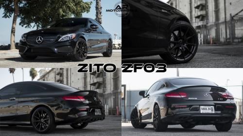 Mercedes Benz C43 AMG BLACK ZITO ZF03 BLACK